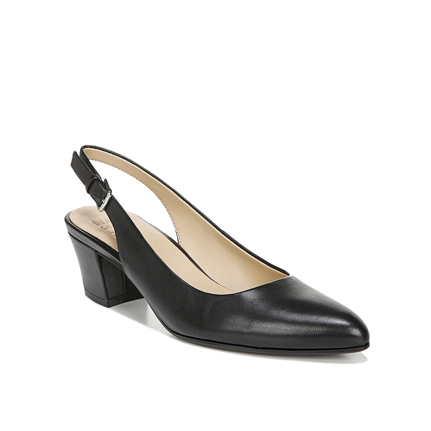 Give your ensemble a classic look with the Charlee pump from Naturalizer. This silhouette is fashioned with a leather upper and a dual density footbed for cloud-like steps!