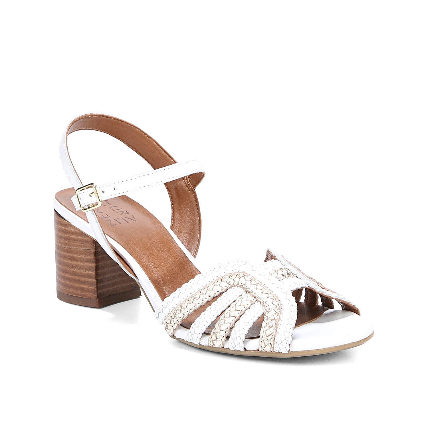 Step out in charming style with the Kingston sandal from Naturalizer. This pair features braided straps and a chunky block heel for eye-catching appeal.