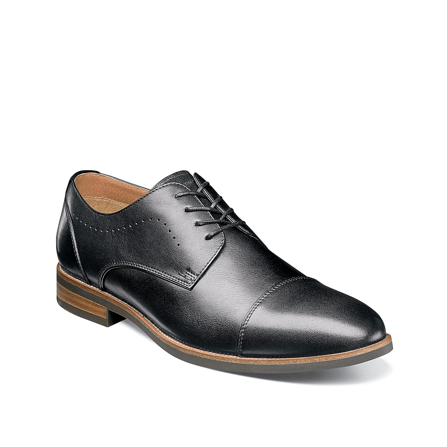 The Upgrade cap toe oxford rocks classic style with modern comfort. This leather lace-up features a subtle perforated accent and OrthoLite™ footbed for your new favorite pair.