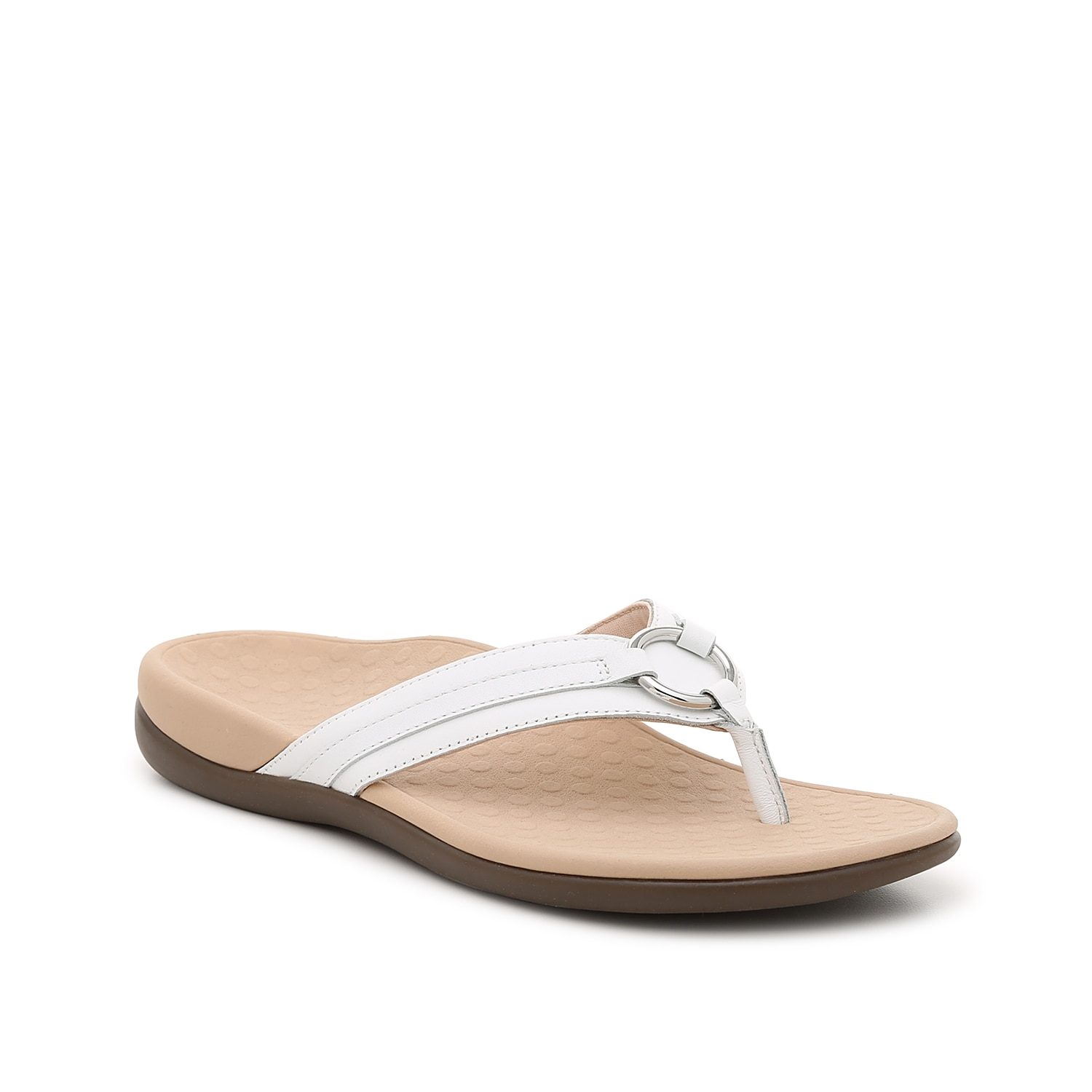 Versatile and comfortable, the Tide Aloe sandal from Vionic will keep you supported all summer long. A contoured footbed with a deep heel cup and unbeatable arch support will make this flip flop your new favorite.