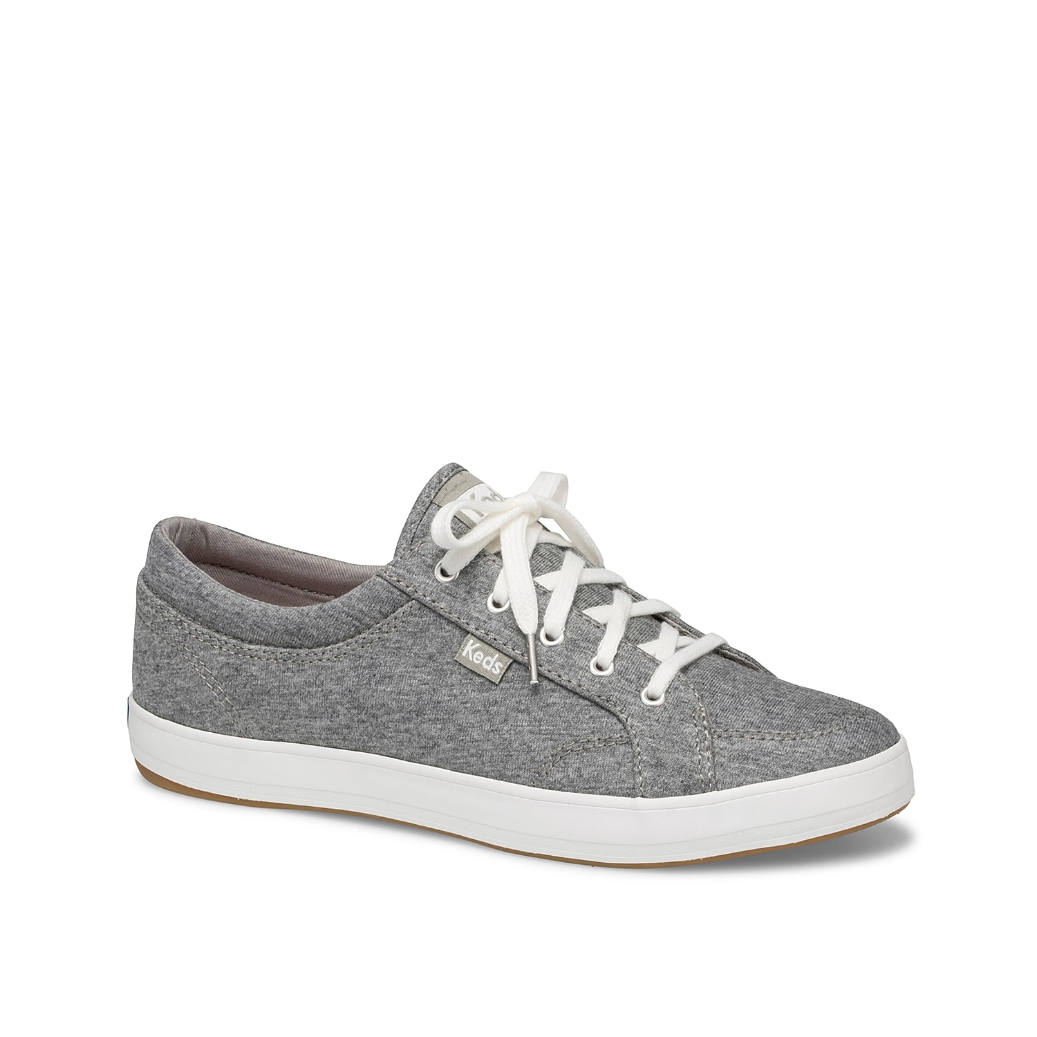 The women\\\'s Center sneakers from Keds is a classic style perfect for any day. These jersey low-tops feature a Dream Foam Memory™ cushioning for comfort in every step.