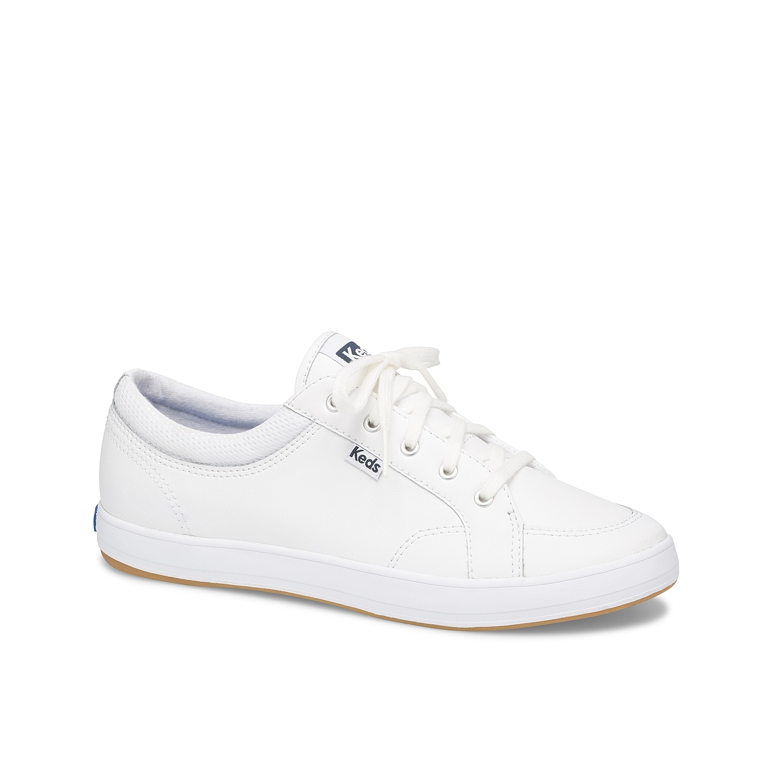 The women\\\'s Center sneakers from Keds is a classic style perfect for any day. These leather low-tops feature a Dream Foam Memory™ cushioning for comfort in every step.