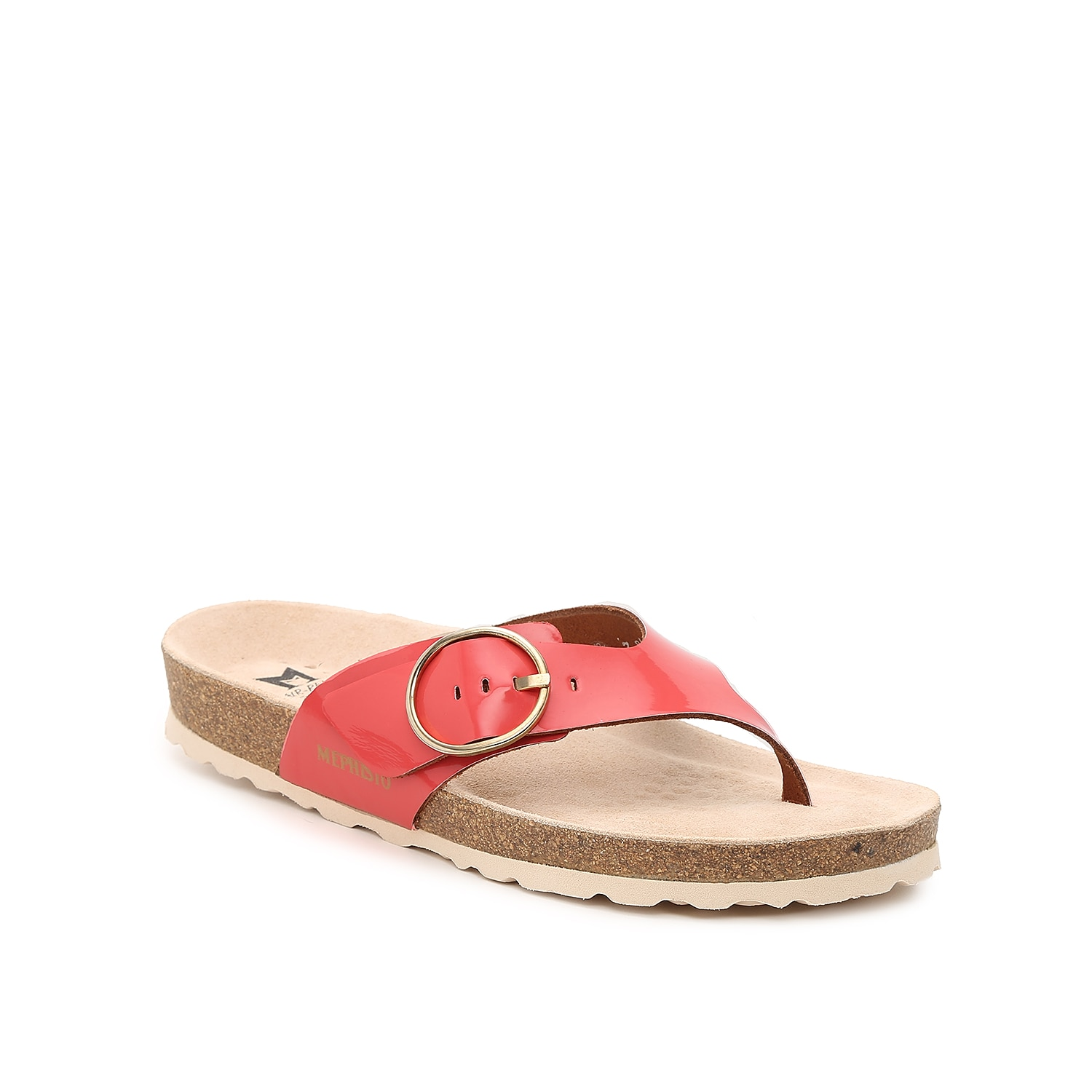 Give your casual shoe collection an update with the Natalina sandal from Mephisto. This slip-on pair is fashioned with a buckle accent and a soft-air technology that provides effective shock absorption!