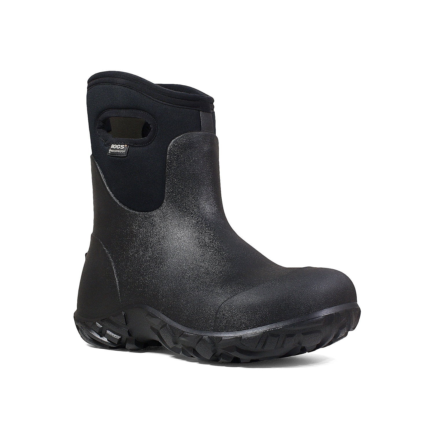 Protect your feet with the workman mid boot from Bogs. This work boot features seamless technology and a BioGrip rubber sole for extra durability and traction while on or off the job!