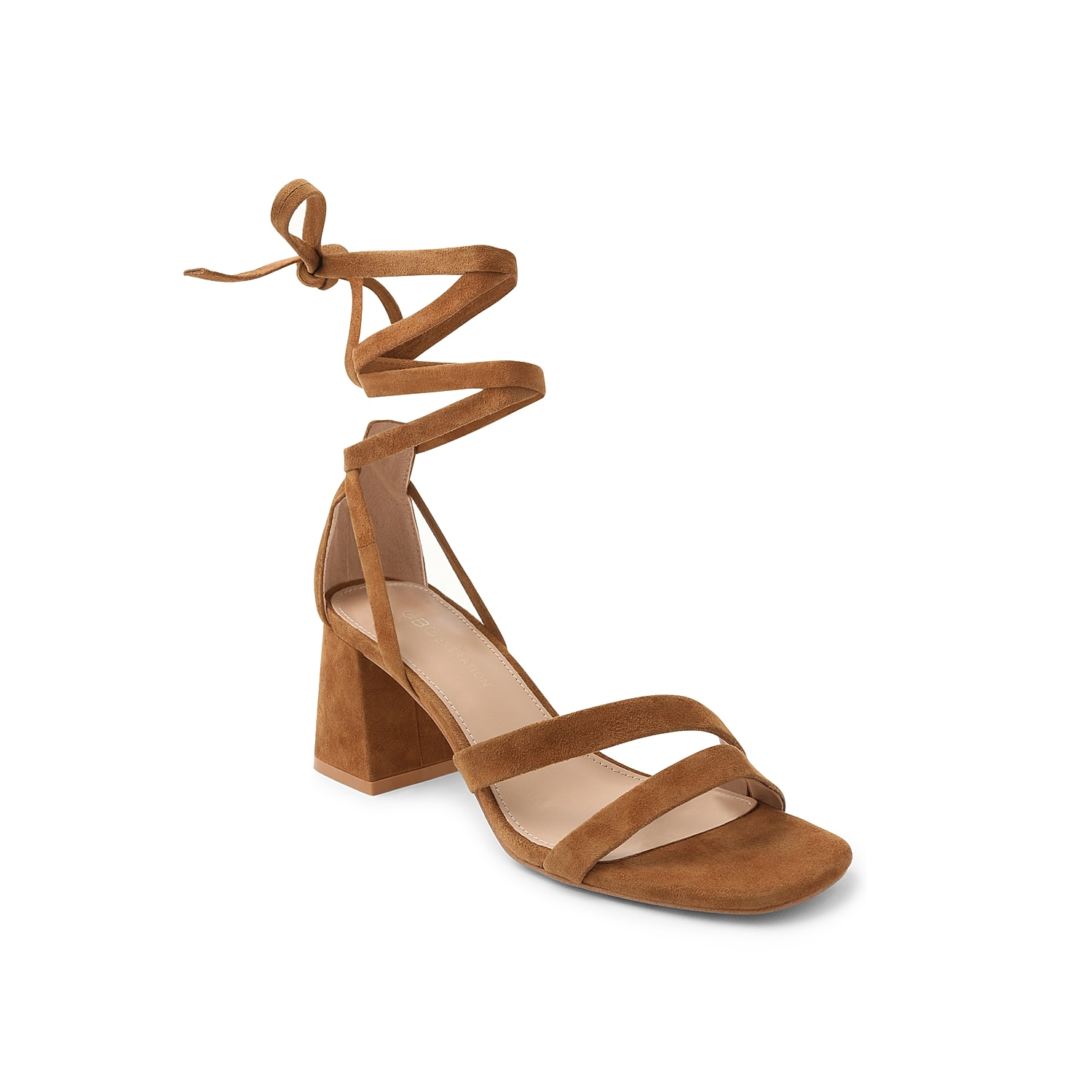 Feminine from heel to toe, the Debby sandal from BCBGeneration will let your feet do the talking. The asymmetrical straps on the forefoot, gorgeous wrapped ankle tie, and cushioning memory foam make this sandal truly standout.