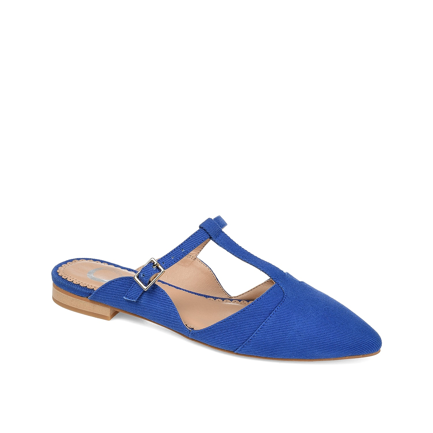 The Fernn mule from Journee Collection rocks a unique design that will give your look a pop of style. Featuring side cut outs and a t-strap buckle, this flat is easy to pair with anything from jeans to skirts.