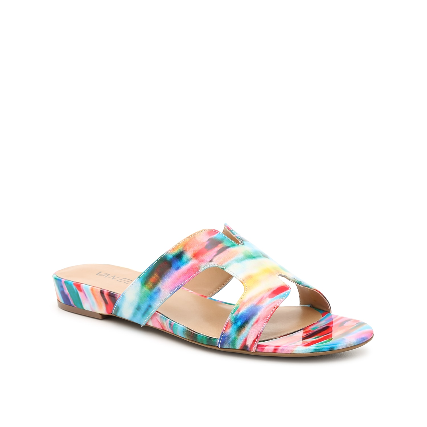 The Brynn sandal from VANELi flaunts a versatile design that is easy to dress up or down. With side cut-outs and an eye-catching upper, this pair will complement jeans, dresses, or capris!