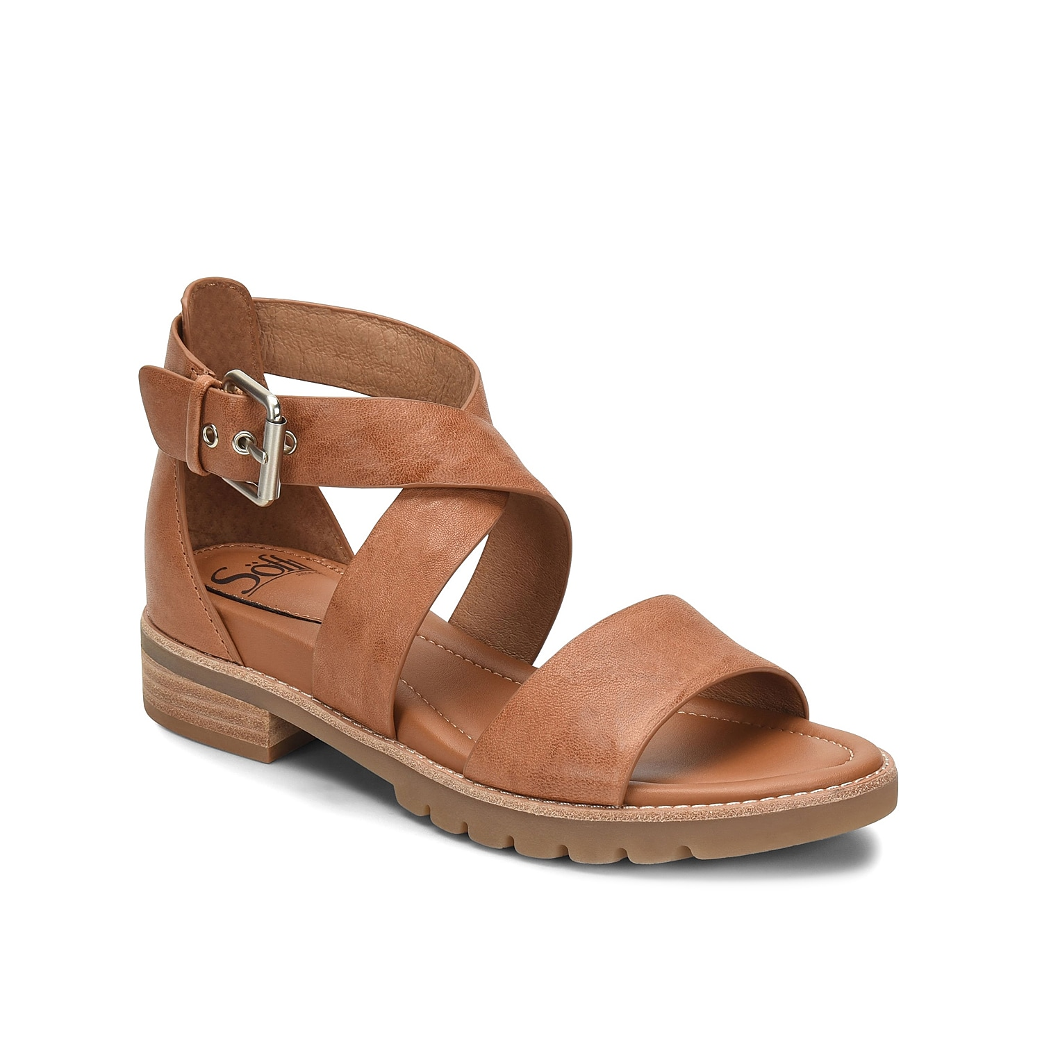 The Novia sandal from Sofft will complement any warm weather look! A cushioned footbed and leather lining will keep you comfortable all season long.
