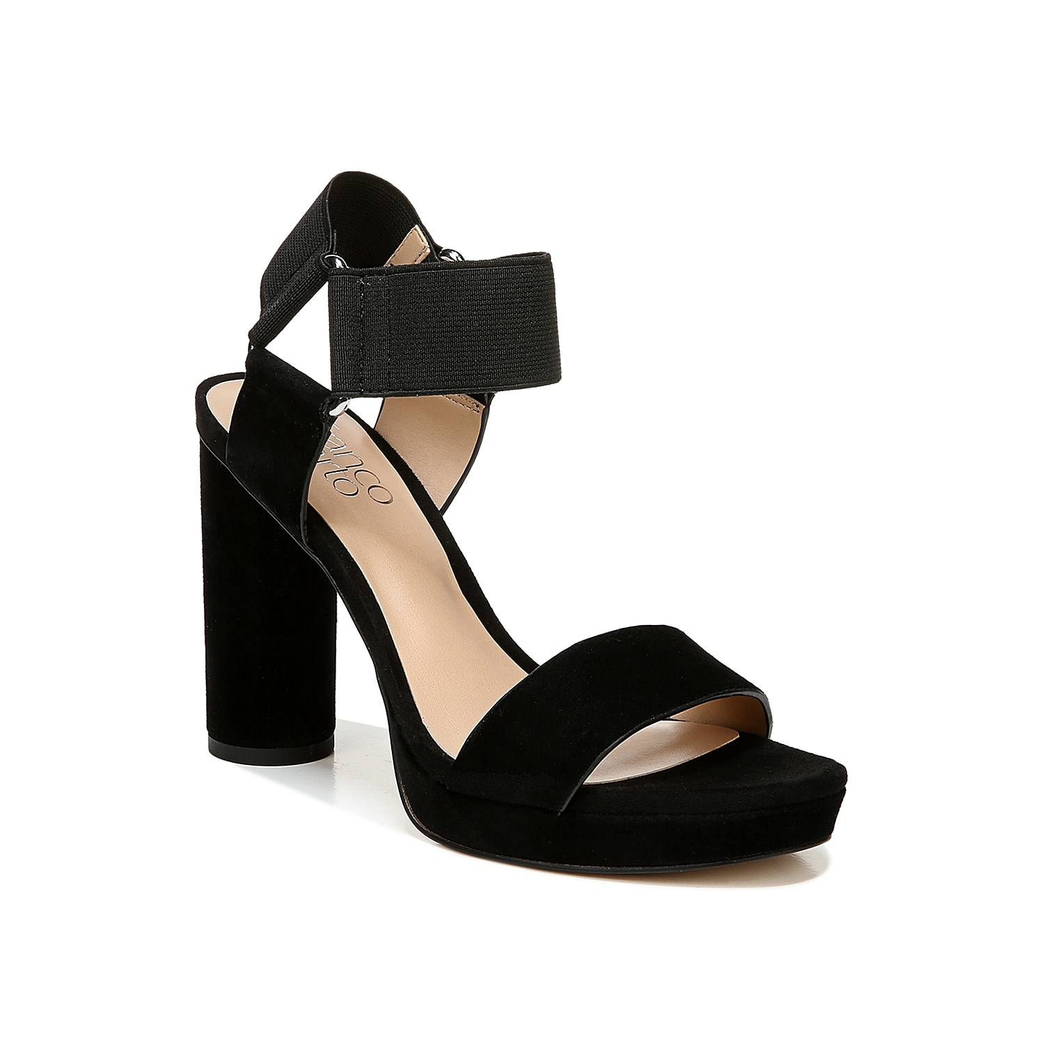 The Napoli platform sandal from Franco Sarto is a blend of posh looks and premium comfort. The elasticated ankle straps let you conveniently pull on this sandal without any closure hassle.