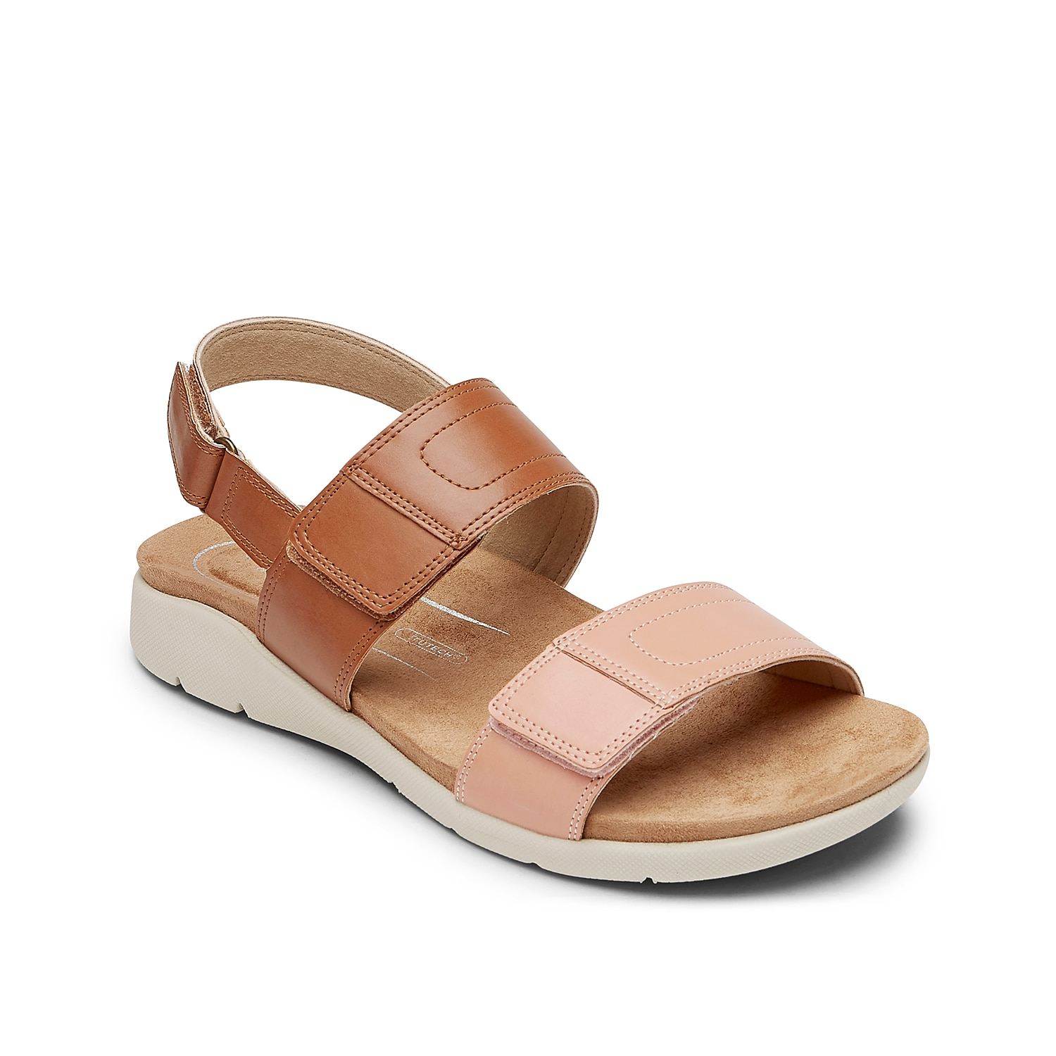 The Eileen sandal from Rockport flaunts versatile style that will pair with any warm weather look. A truTech footbed, EVA sole, and triple hook and loop straps provide daylong comfort.