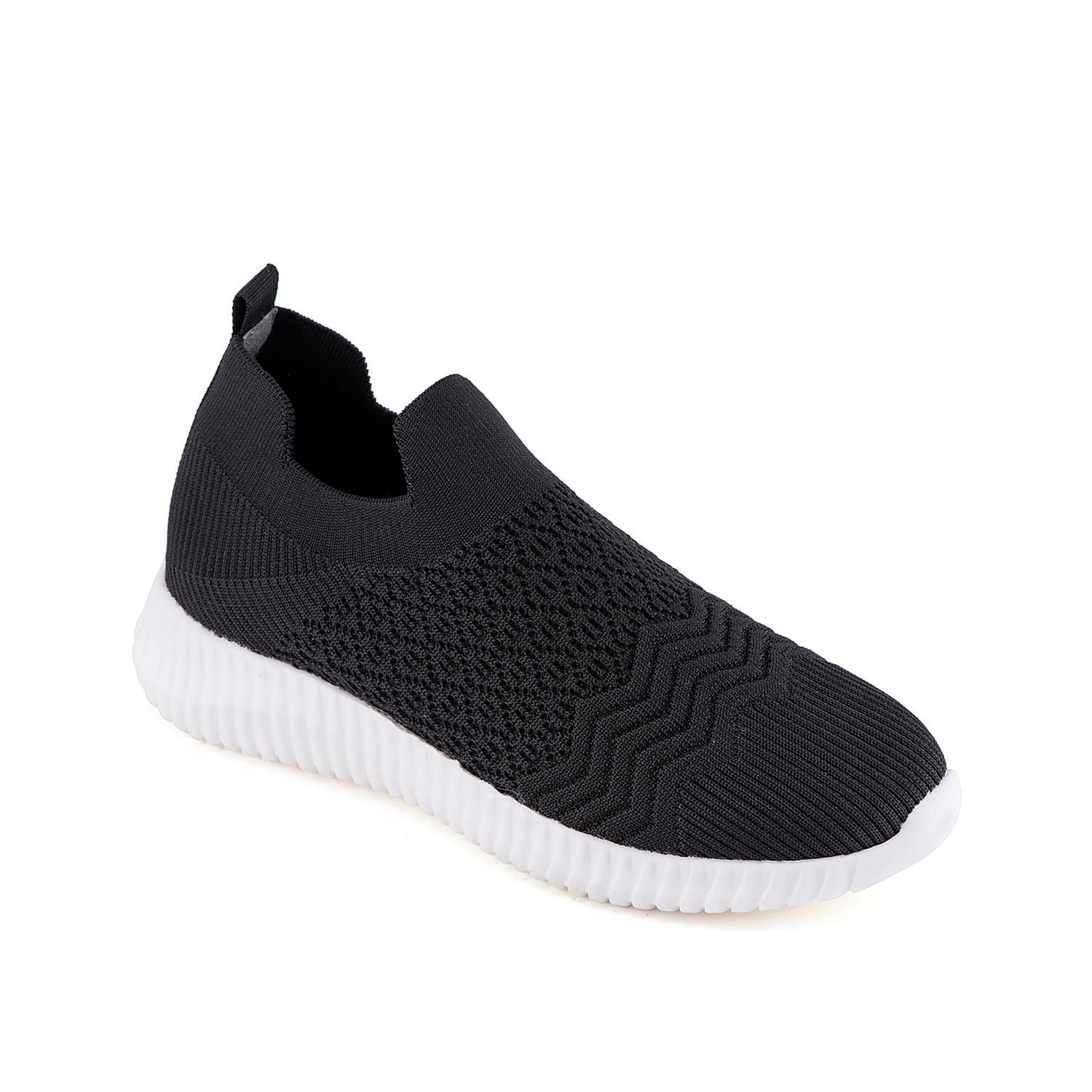 Show off sporty looks with the Tenika slip-on sneaker from David Tate. The stretchy knit upper complements the textured foam midsole for modern style.