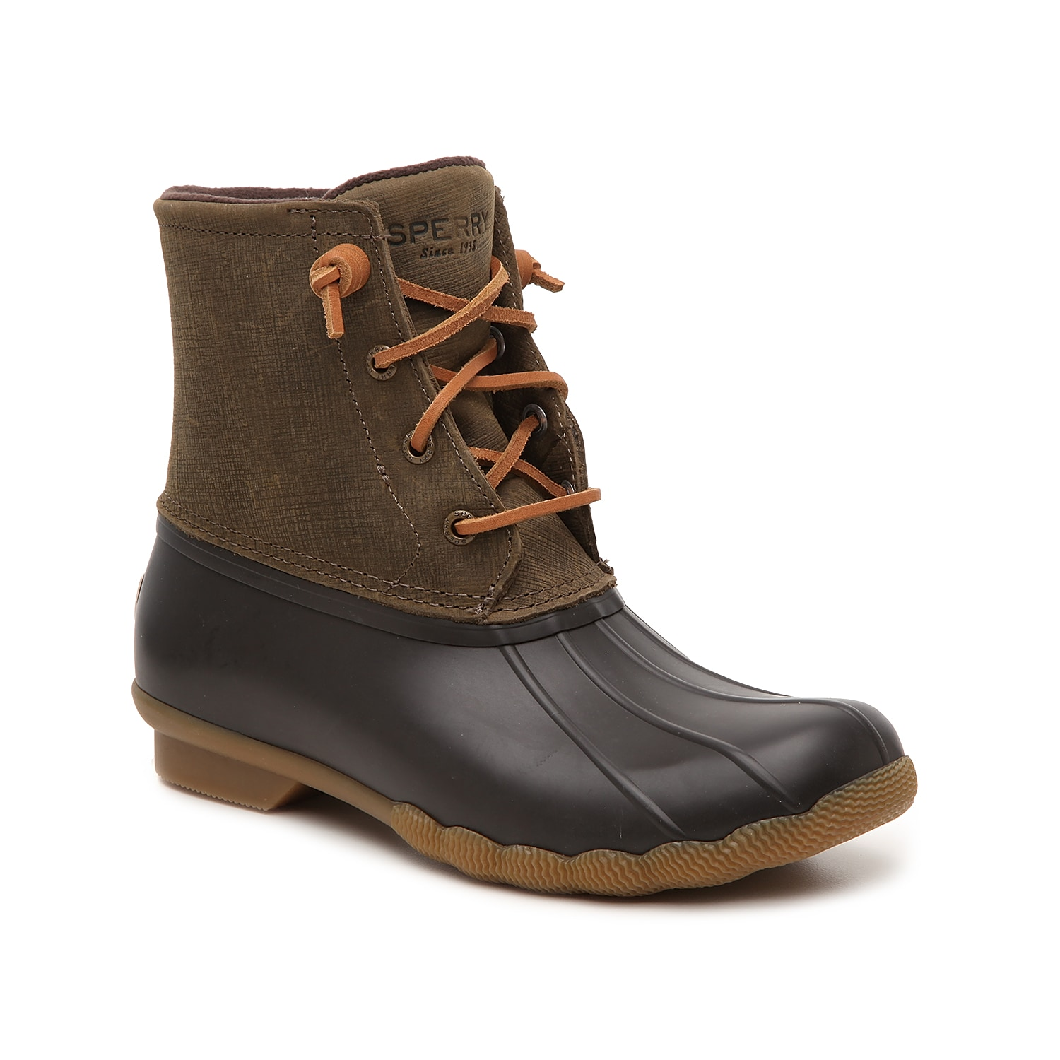 Zip up in these waterproof winter boots from Sperry to complete your cold weather look! With a trendy duck boot design, the Saltwater snow boots will keep you cute and cozy all season long! Click here for Boot Measuring Guide.