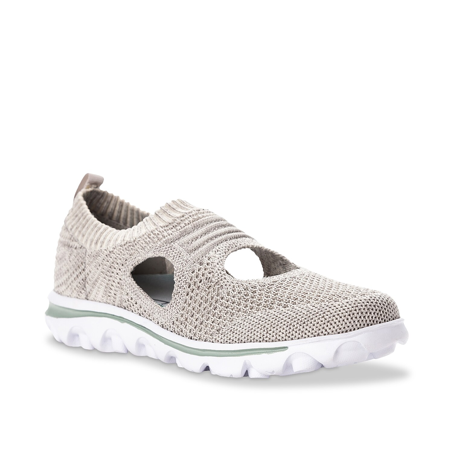Stay comfortable anywhere you go with the Travelactiv slip-on from Propet. The lightweight TravelTek™ EVA sole provides durability and traction in every step.