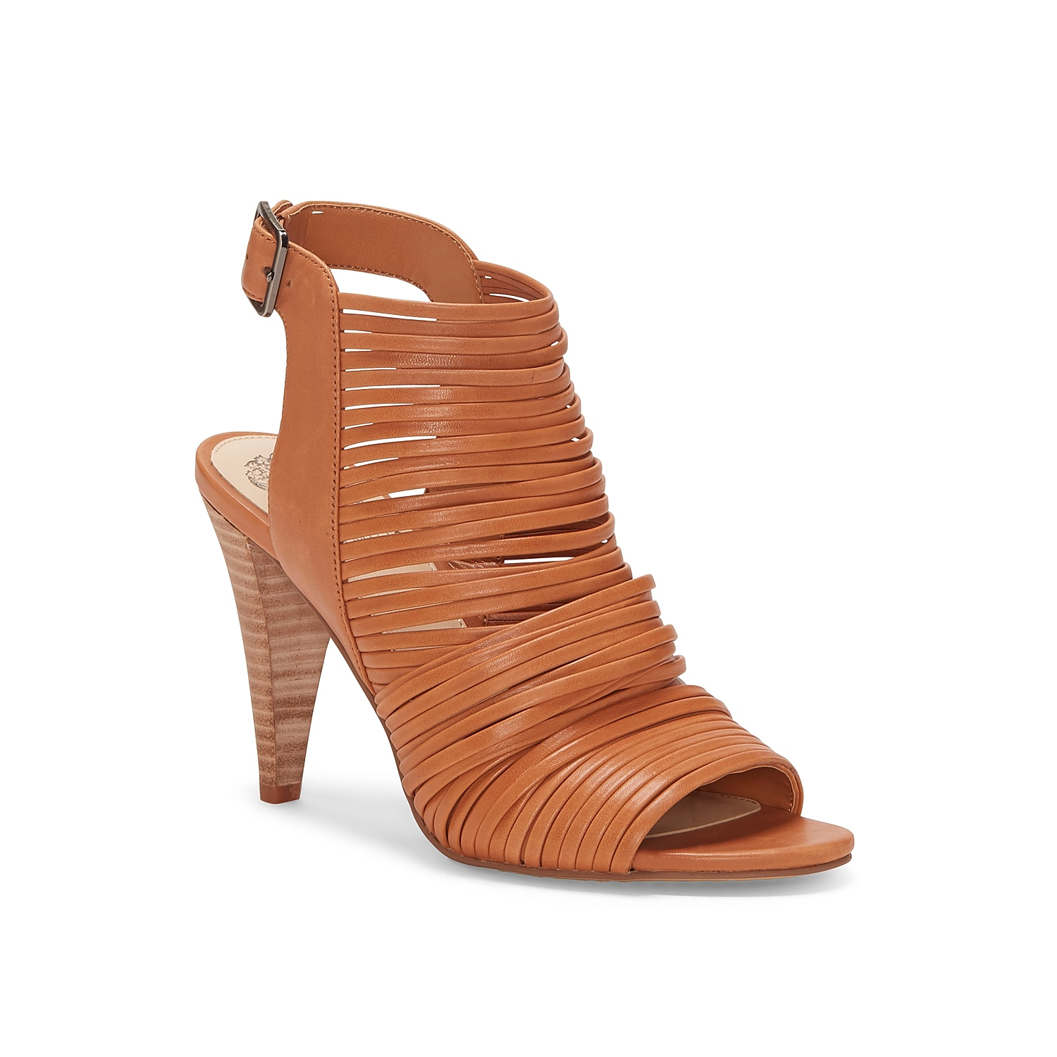 Walk with confidence in the Adeenta sandal from Vince Camuto. Featuring a strappy vamp and a cone-inspired heel, this slingback will complement anything from jeans to dresses.