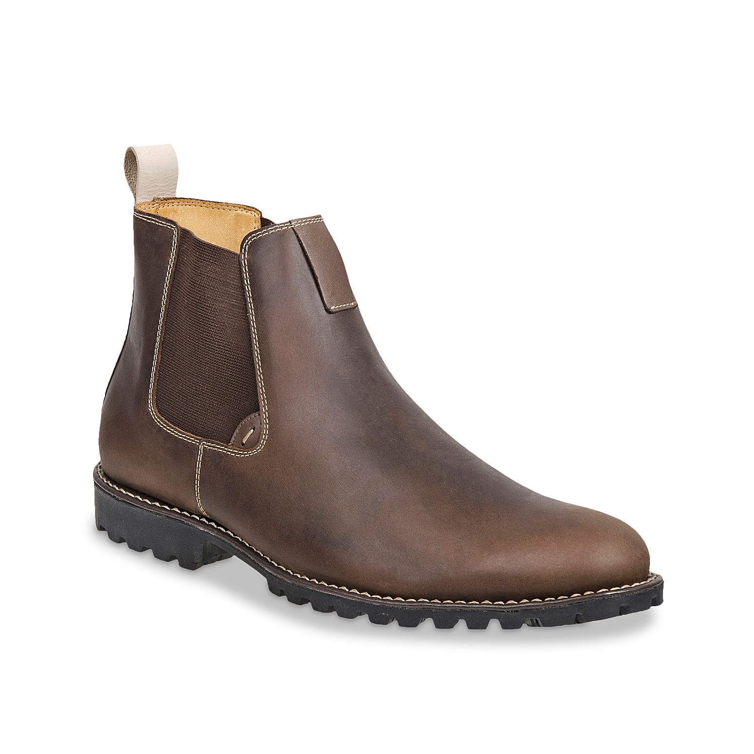 Give your shoe collection a rugged look with the Wilbur boot from Sandro Moscoloni. This fresh pair features a leather upper and Chelsea-inspired styling for a dapper finishing touch!