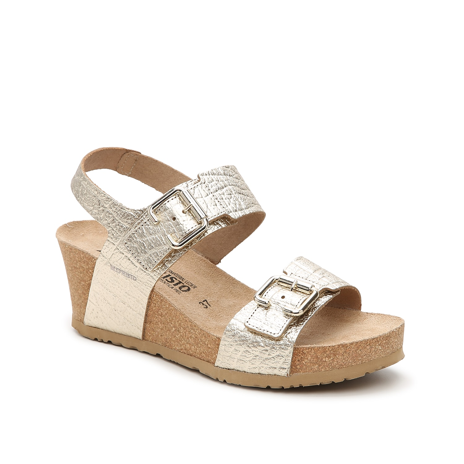 Upgrade your warm weather looks with the Lissandra wedge sandals from Mephisto. This cork pair is fashioned with dual adjustable buckles for a fully custom fit and a suede-covered footbed that conforms to your foot.