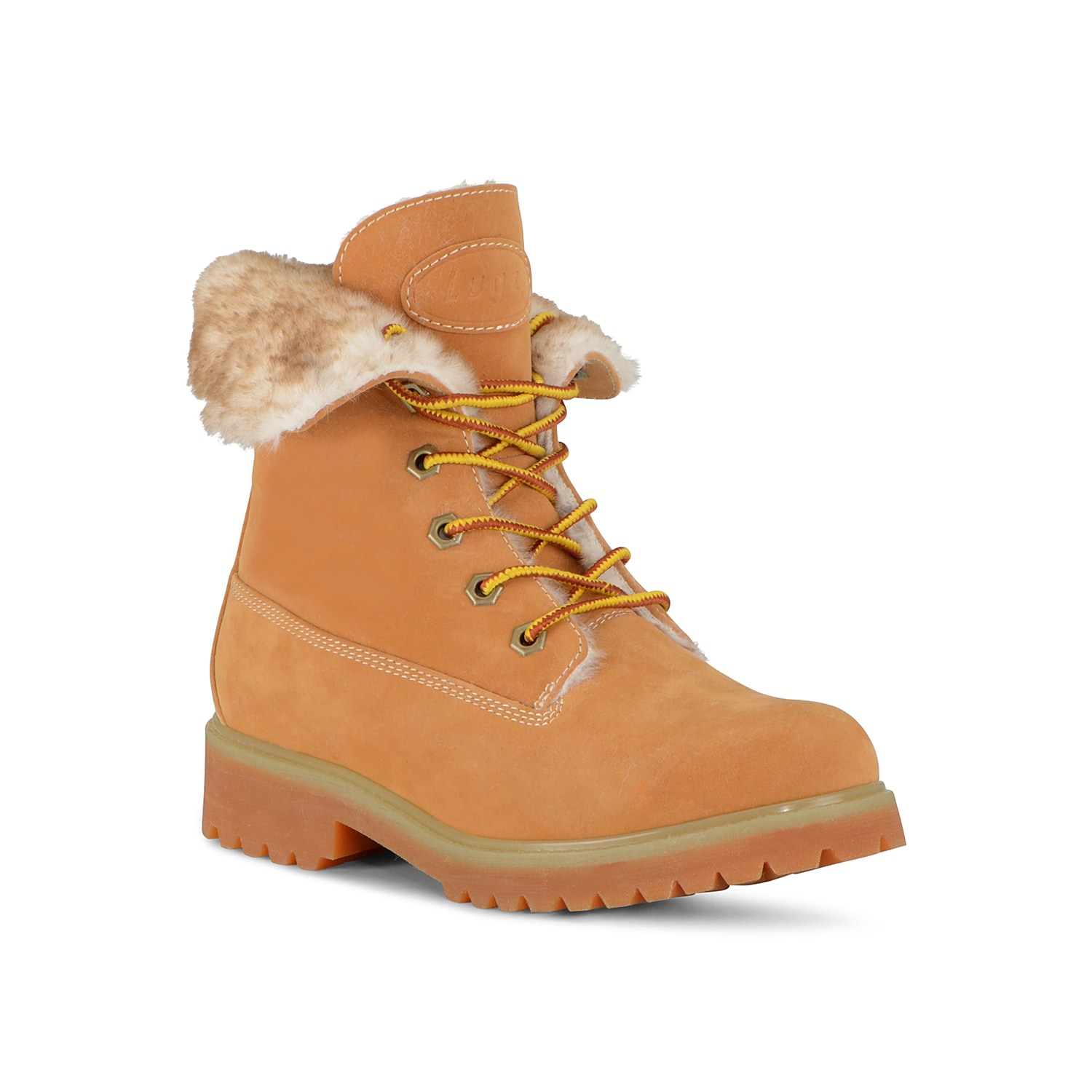Amp up your cold-weather street style with the Convoy Fold boot from Lugz. This lace-up pair features a faux fur collar and easily pairs with your rotating wardrobe! Click here for Boot Measuring Guide.