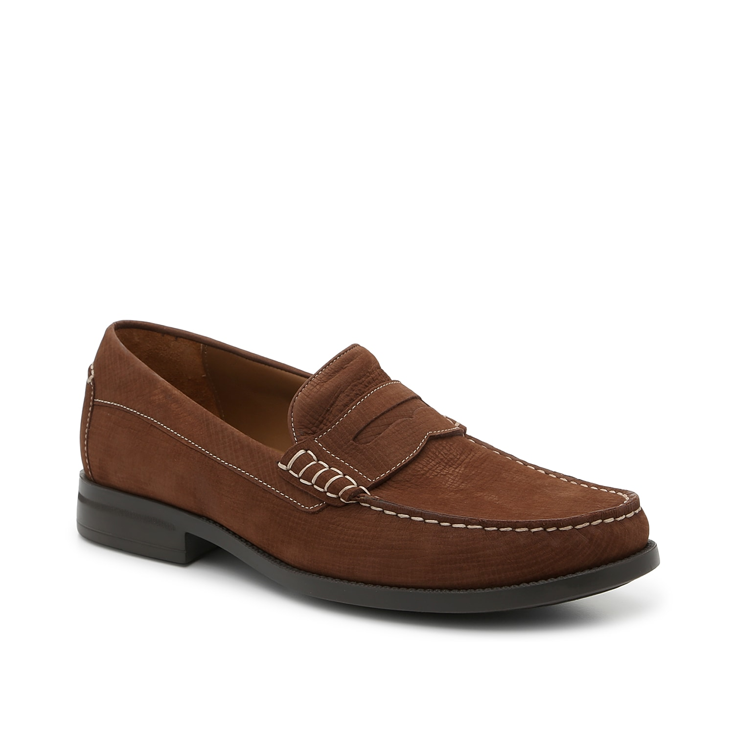 Redefine your shoe collection with the Chadwell loafer from Johnston & Murphy. This slip-on features a textural nubuck leather upper and penny keeper details to pair with your everyday wardrobe!