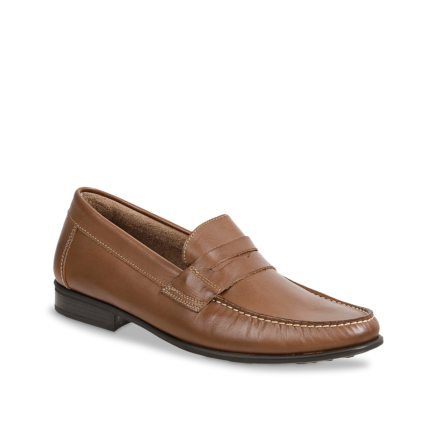 Pull off a handsome look with the Alvin loafer from Sandro Moscoloni. Comprising durable leather upper, this slip-on has a classy keeper slot and impressive moc stitched toe design.