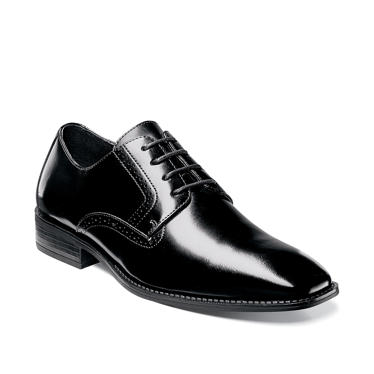 Add modern style to your shoe collection with the Ardell oxford from Stacy Adams. This lace-up pair features smooth leather and perforated brogue accents for a handsome finishing touch!