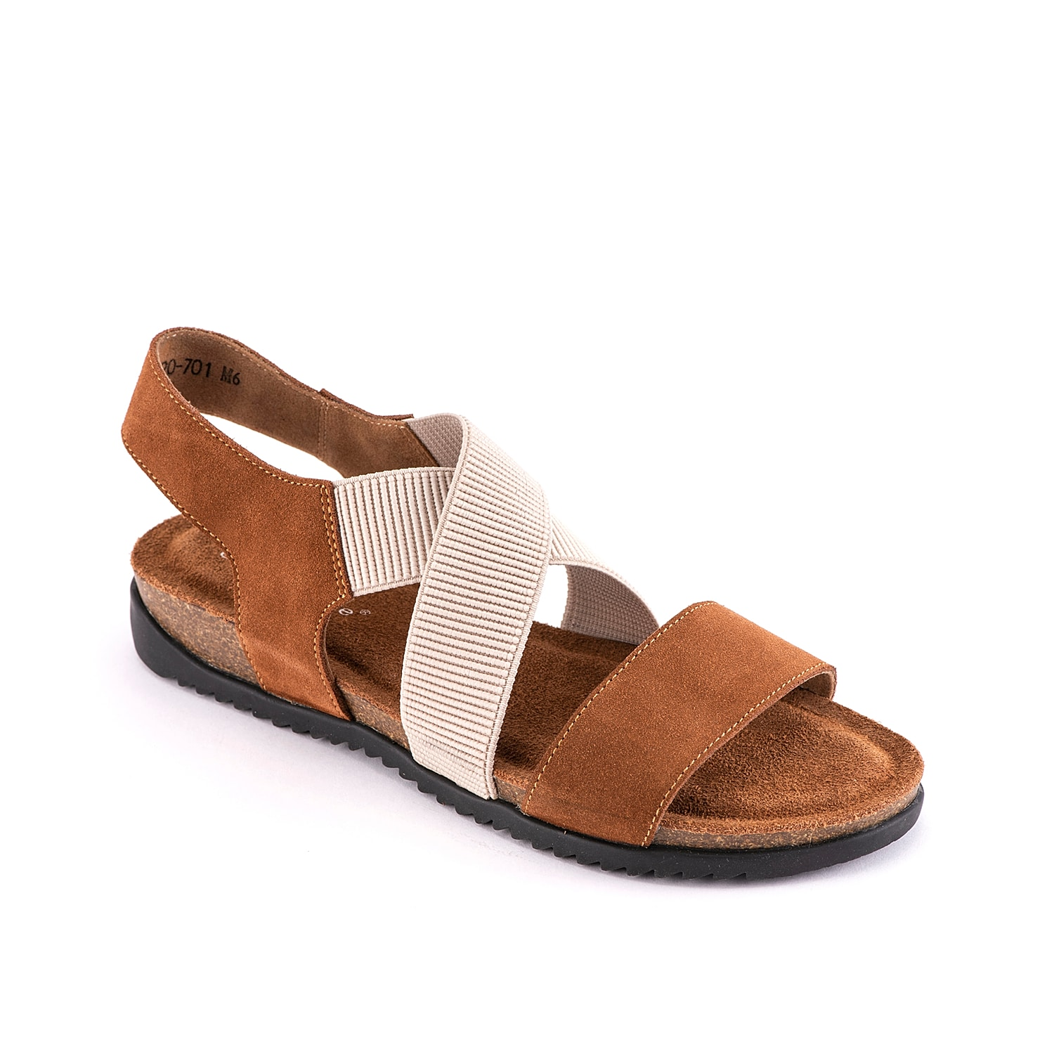 Pull together your favorite looks when wearing the Clay sandal from David Tate. This silhouette is fashioned with a suede upper and elastic crisscross straps for an easy on-and-off!
