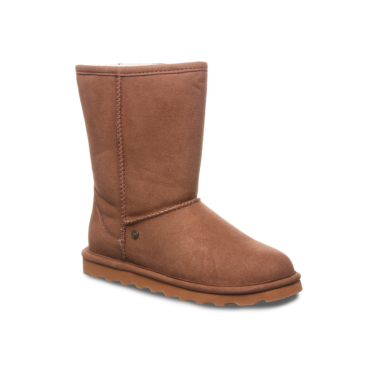 Make the colder months bearable with the Bearpaw Elle snow boot. This flat boot is treated with NeverWet® water-repelling technology and faux fur lining that ensure your foot stays warm and dry.Click here for Boot Measuring Guide.