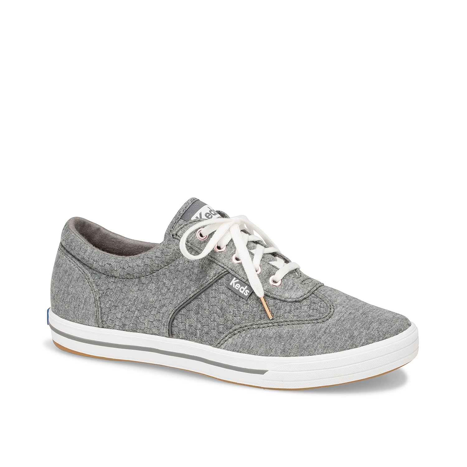 Sporty style gets rejuvenated with feminine detailing in the Keds Courty sneaker. Comprising cushioning memory foam footbed and plush jersey lining, this tennis shoe has a rubber sole for improved traction.