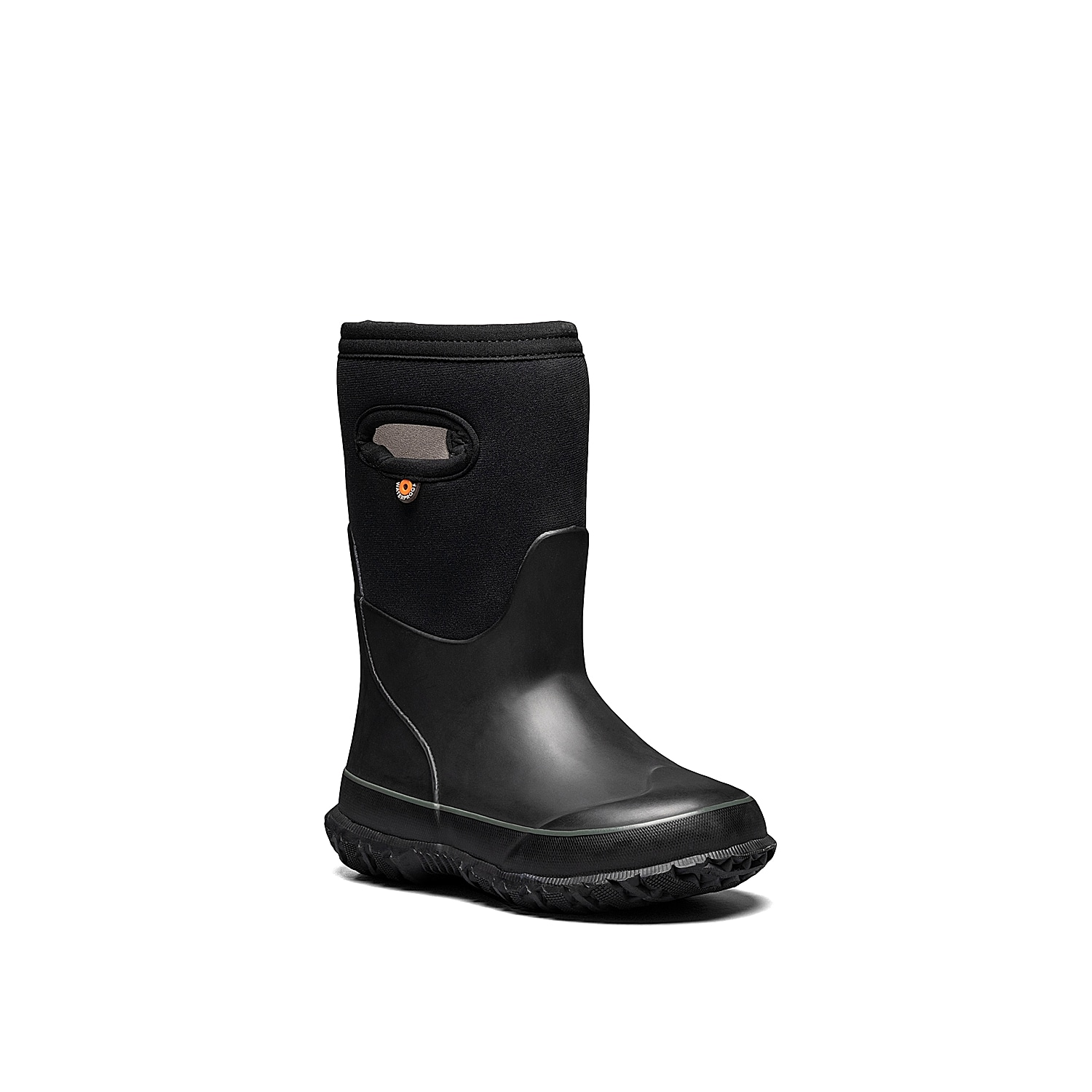 His feet will stay cozy and stylish in the Grasp Solid snow boot from Bogs. Designed with 5mm Neo-Tech waterproof insulation and cold rated to -30°C, this tall boot features eco-friendly Bloom EVA footbed and odor-eliminating DuraFresh technology.Not sure which size to order? Clickhereto check out our Kids' Measuring Guide! For more helpful tips and sizing FAQs, clickhere.