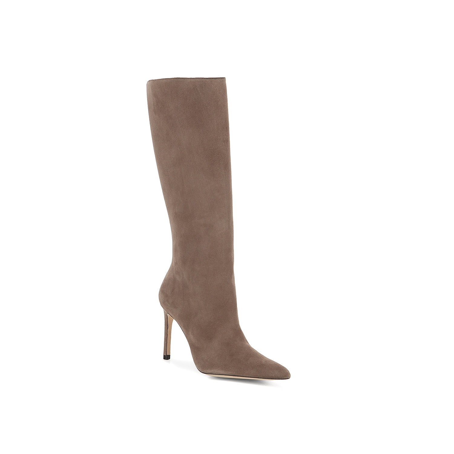 Make your way through any crowd when wearing the sophisticated Porto boot from Alexandre Birman. This sleek pair is fashioned with a soft suede and pointy toe for an elongated look! Click here for Boot Measuring Guide.