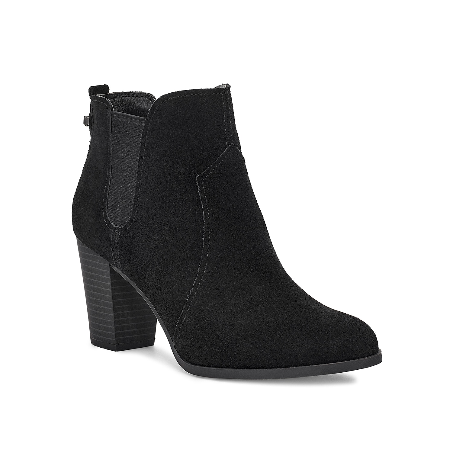 Make a classic impact with the Dvita Chelsea bootie from Koolaburra by Ugg. This ankle boot made of suede features side gore panels for a precise fit and stacked heel that gives it an elevated elegance.