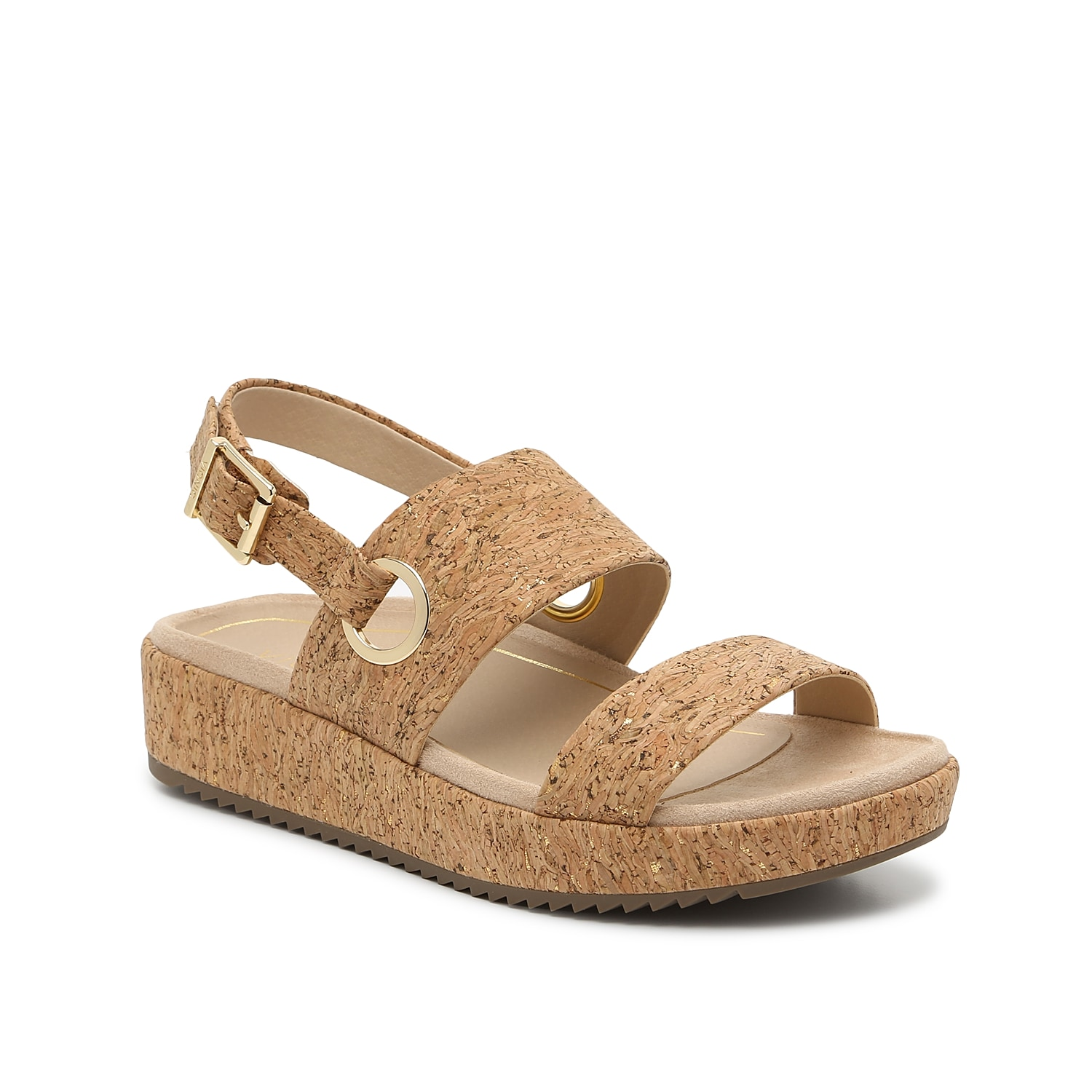 Elevate your sunny-day looks with the Louise sandals from Vionic. These platform sandals are styled with a broad straps, gold hardware, and a sporty sawtooth sole. A supportive biomechanical footbed puts your comfort first!