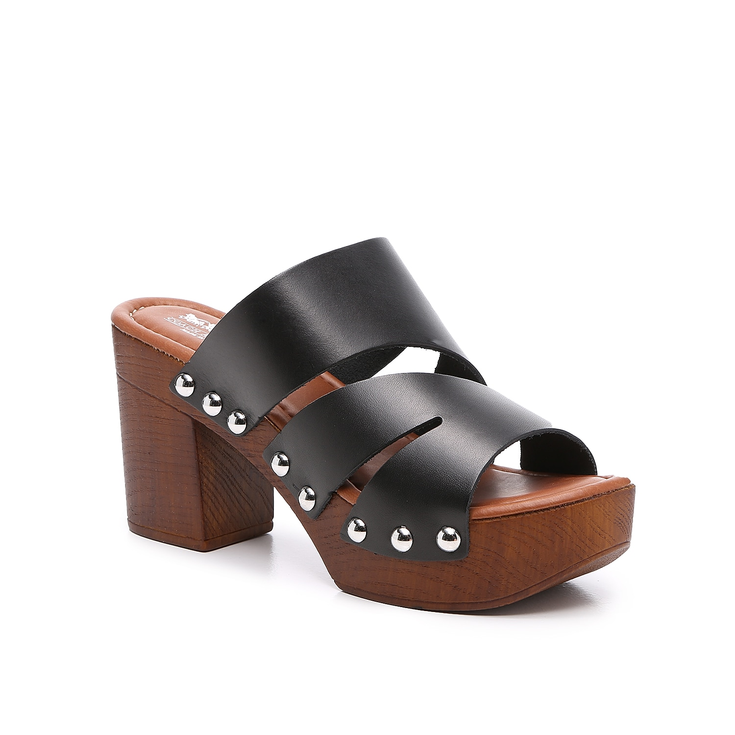 The Vero sandal from Coach and Four will give your look a retro vibe. With a chunky faux wood platform and studded accents, this pair will complement wide-leg jeans or long skirts!