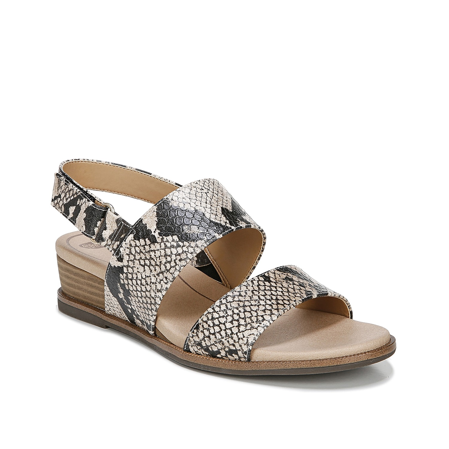 Upgrade your warm weather collection with the Freeform wedge sandal from Dr. Scholl\\\'s. This casual pair is fashioned with a secured hook-and-loop strap and anatomical, cushioned footbed for cloud-like steps!