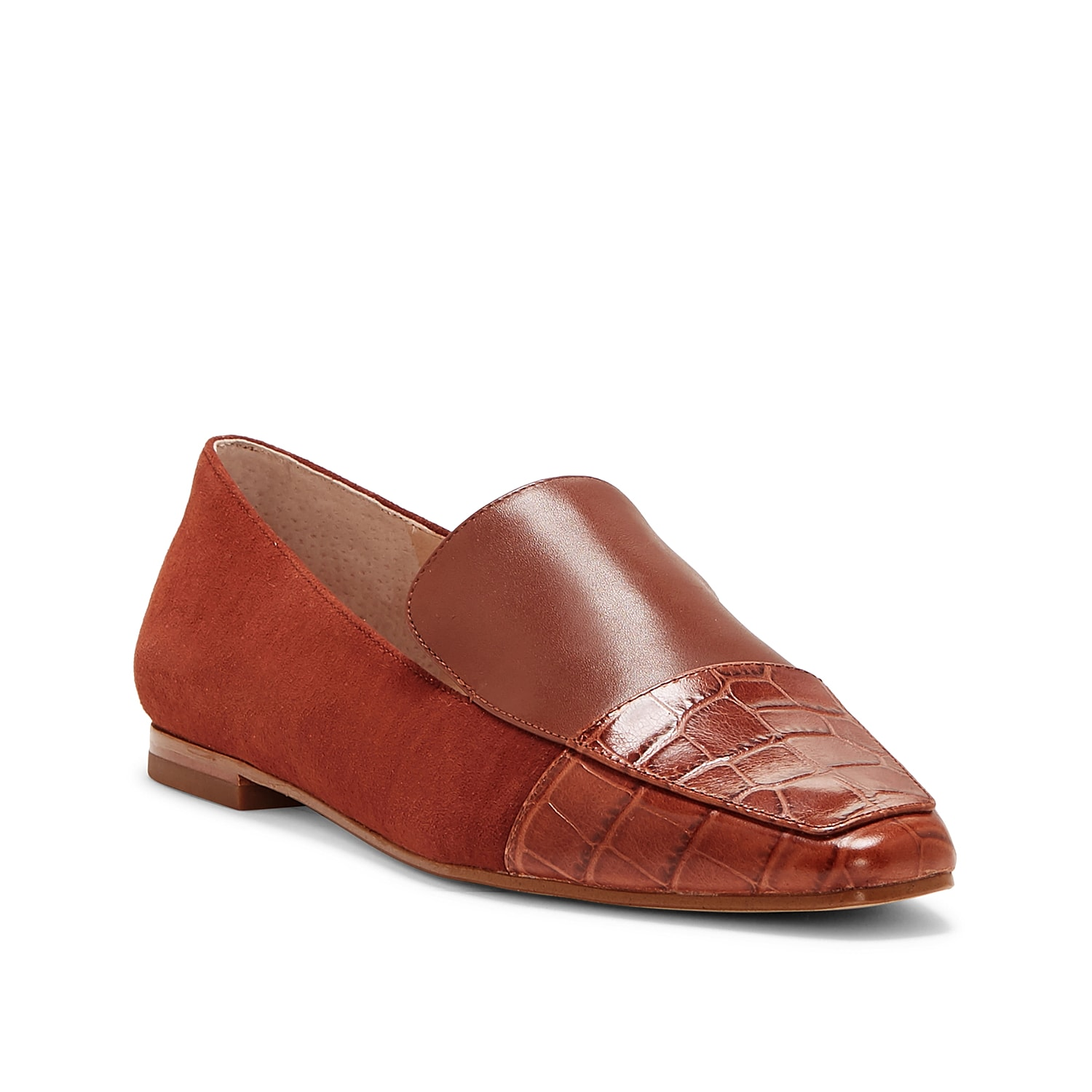 Tailored looks will get a modern update with the Blith loafer from Louise Et Cie. A tapered croc-print square toe sets this mixed material slip-on apart from the rest.