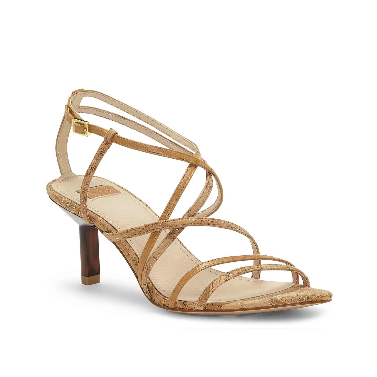 Minimalism meets modern fashion in the Hansel sandal from Louise Et Cie. The strappy upper and skinny heel define this dressy pair that\\\'s styled with a stamped footbed.