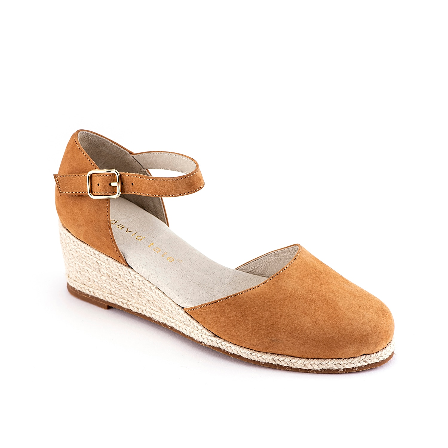 Keep your look cute and comfy with the Anala wedge sandal from David Tate. This silhouette is fashioned with a nubuck leather upper and an espadrille heel to pair with maxi dresses and floppy hats!