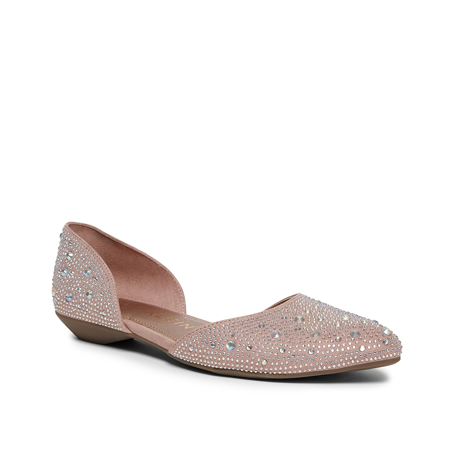 Add subtle glam to your ensemble with the Onyx flat from Anne Klein. This silhouette is fashioned with rhinestone accents and an iFlex rubber sole for all the comfort!