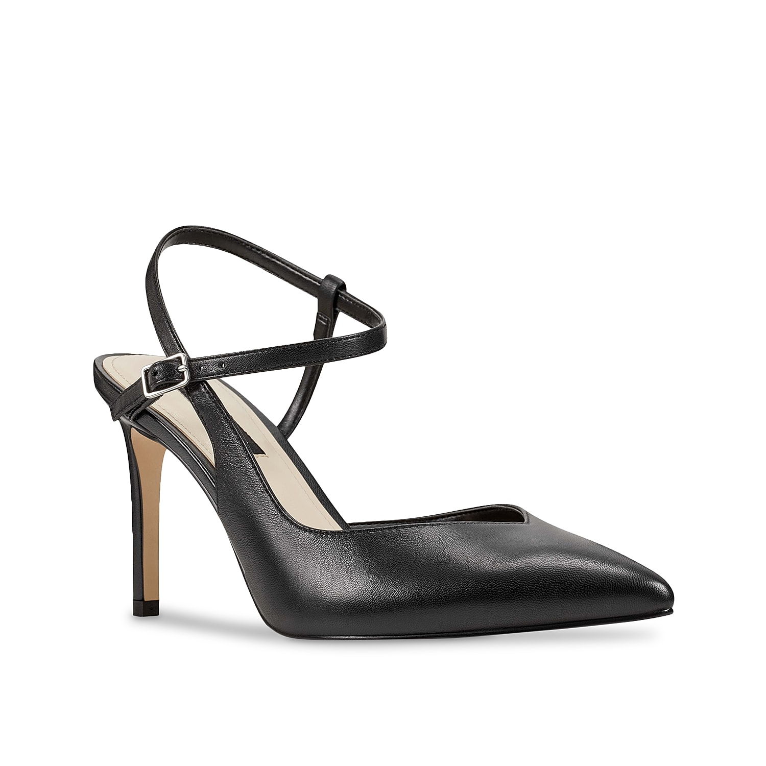 Bring on the sophistication when wearing the Elisa pump from Nine West. This leather silhouette is fashioned with a skinny heel and pointy toe that gives your ensemble a chic finishing touch!