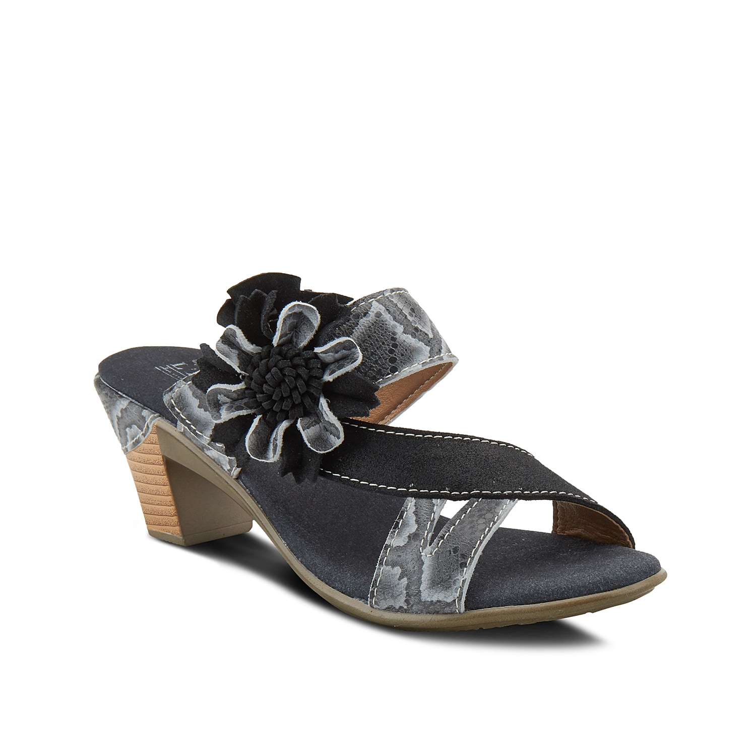 Slide into the Cassana sandal from L\\\'Artiste by Spring Step to freshen up your warm weather wardrobe. This pair features a floral applique and asymmetrical strap for eye-catching appeal.