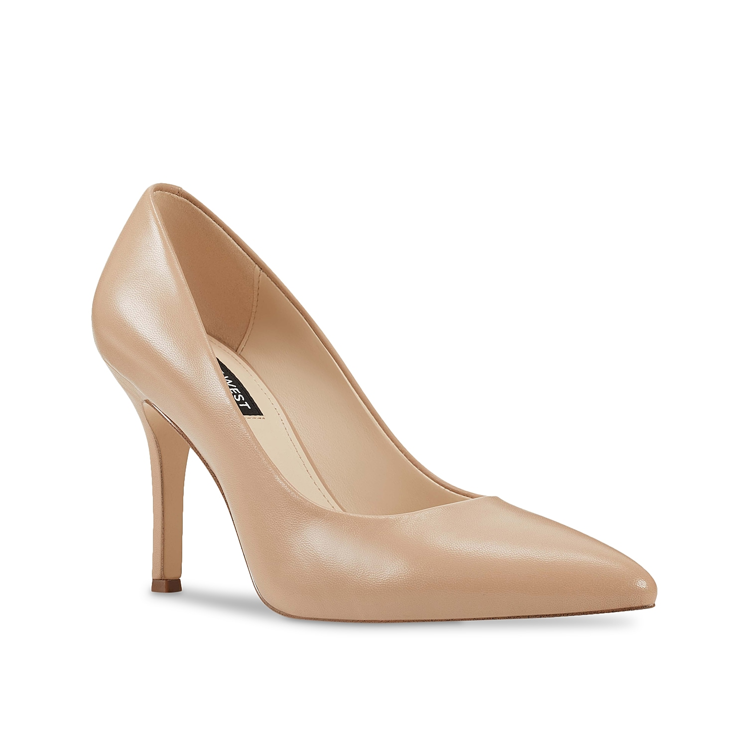 Dress up your ensemble in chic fashion with the Flax pump from Nine West. This classic silhouette is fashioned with a leather upper and skinny heel for showstopping struts!
