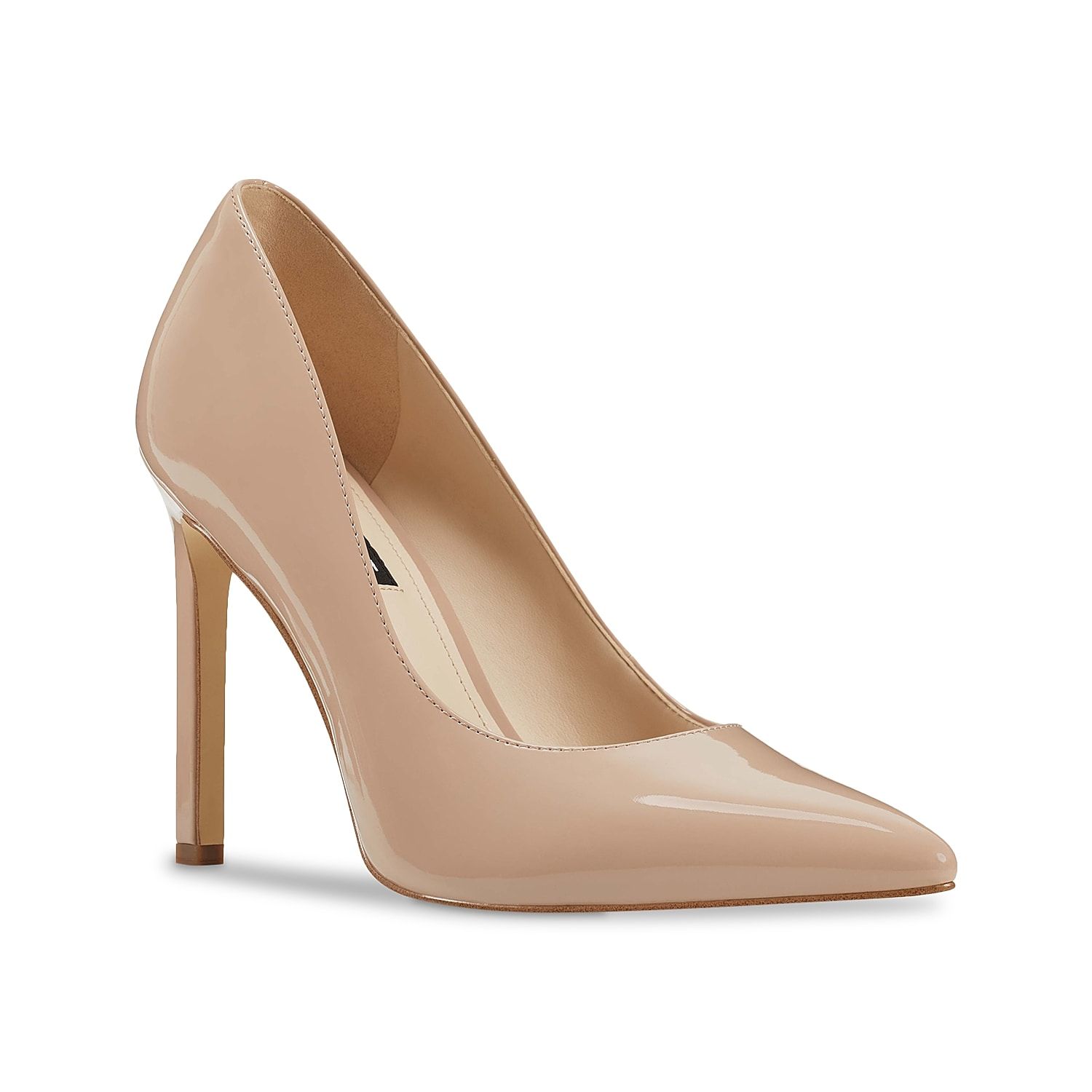 Amp up any outfit with the Tatiana 3 pump from Nine West. With a towering stiletto and neutral hue, this pointed toe pair will complement anything from short dresses or distressed jeans.