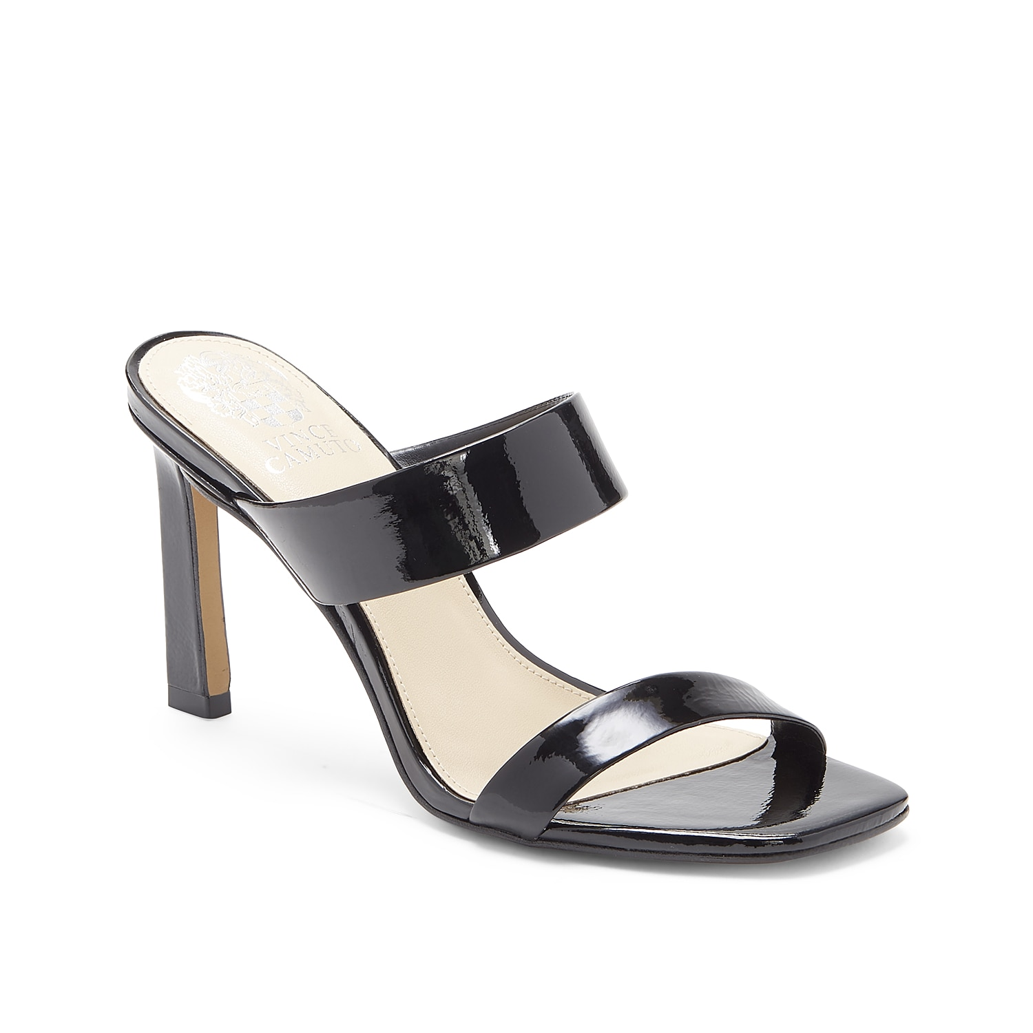 Slide into trendy appeal with the Brisstol sandal from Vince Camuto. With double straps and a squared off toe, this leather pair takes any outfit to the next level.