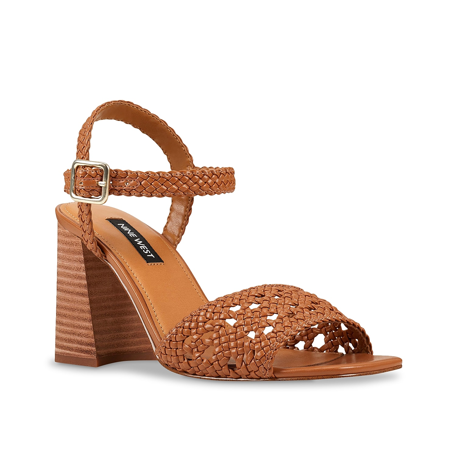 Infuse whimsical style to your wardrobe with the Gwenny sandal from Nine West. An attractive woven upper is elevated by a flared block heel adds a breezy touch to your look.