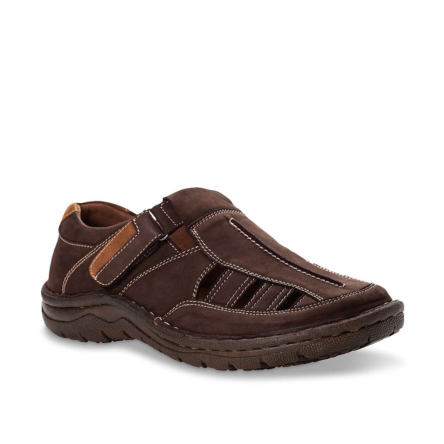 Enjoy summer days in comfort with the Jack Huarache sandal by Propet. Showcasing classic fisherman style for excellent ventilation, its adjustable instep strap ensures a customized fit. The removable foam footbed cradles your feet and a durable outsole offers reliable traction.