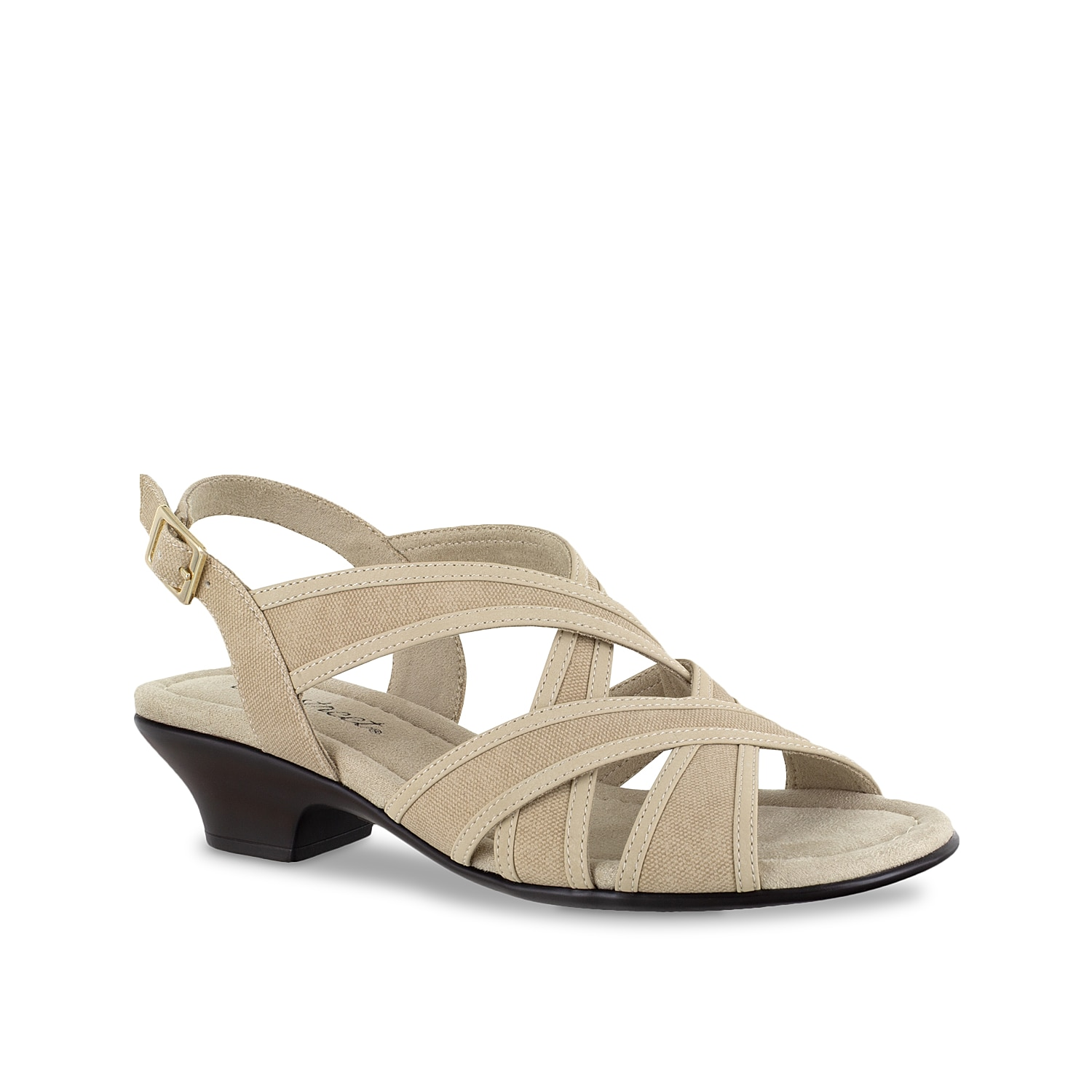 Easy Street brings you unbeatable comfort with the Viola sandal. This silhouette is fashioned with multiple crisscross straps and a generously cushioned footbed for cloud-like steps!
