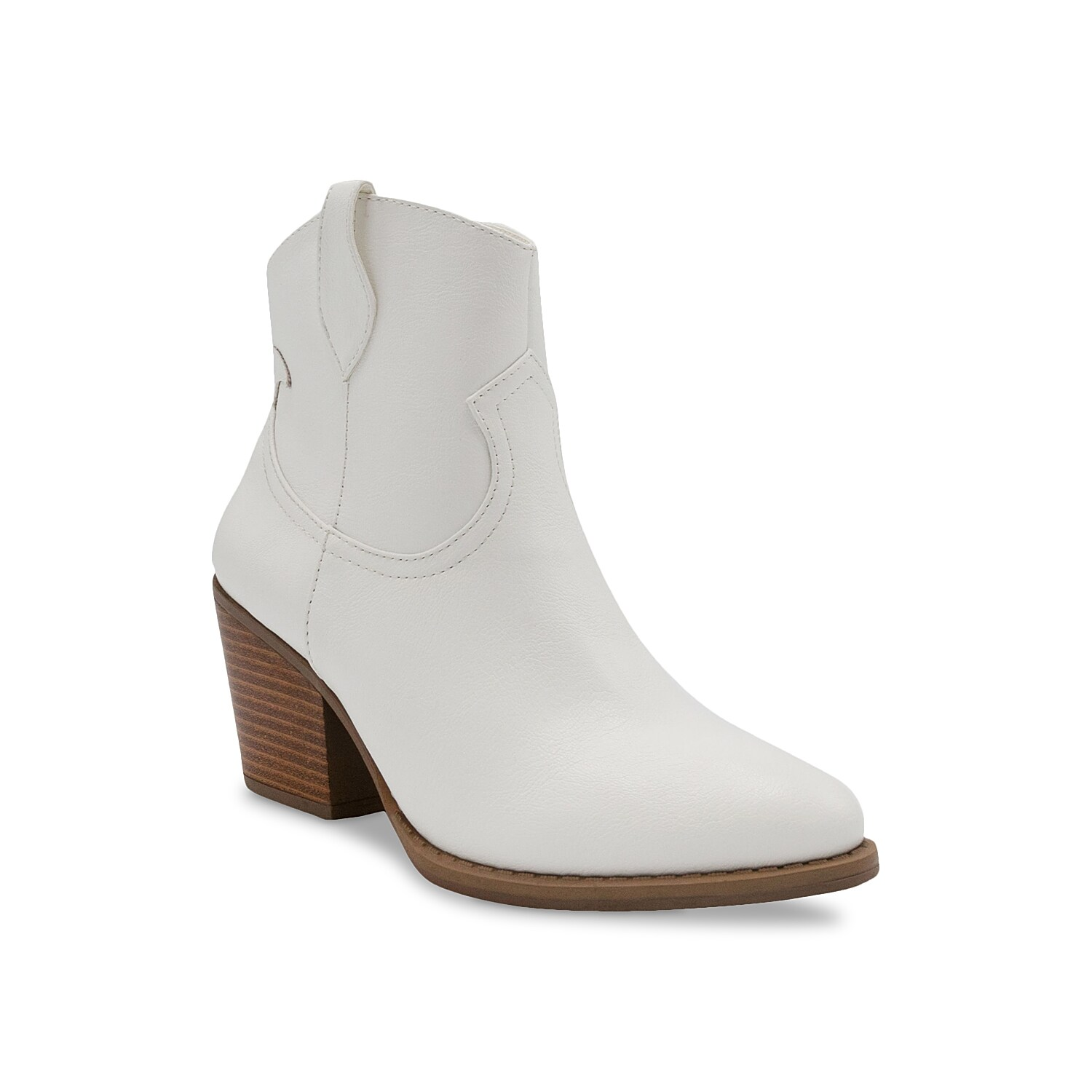 Western style gets a modern update with the Tarah bootie from Sugar. This pair features a trendy block heel, sleek almond toe, and classic pull loops to keep any outfit looking fresh. Click here for Boot Measuring Guide.