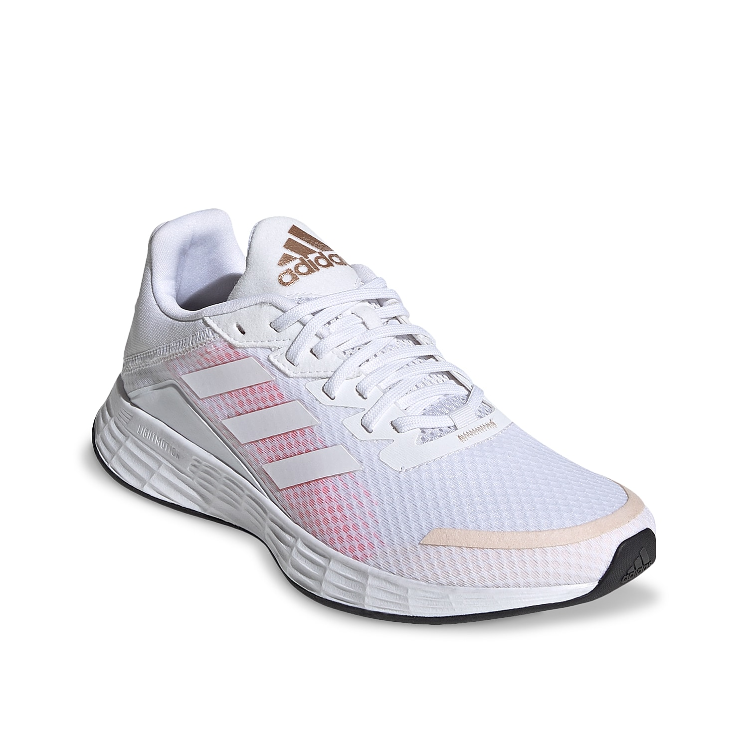 Add versatility to your workout with the women\\\'s Duramo SL running shoe from adidas. This pair features a Lightmotion midsole and OrthoLite® sockliner to provide comfort for every stride, jump, or turn.