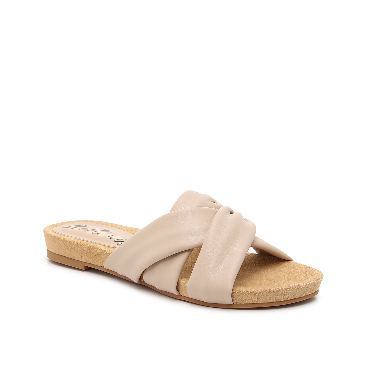 Give your ensemble cutesy style with the Nene sandal from Bellini. This silhouette is fashioned with a flat design and ruched accents for added interest!