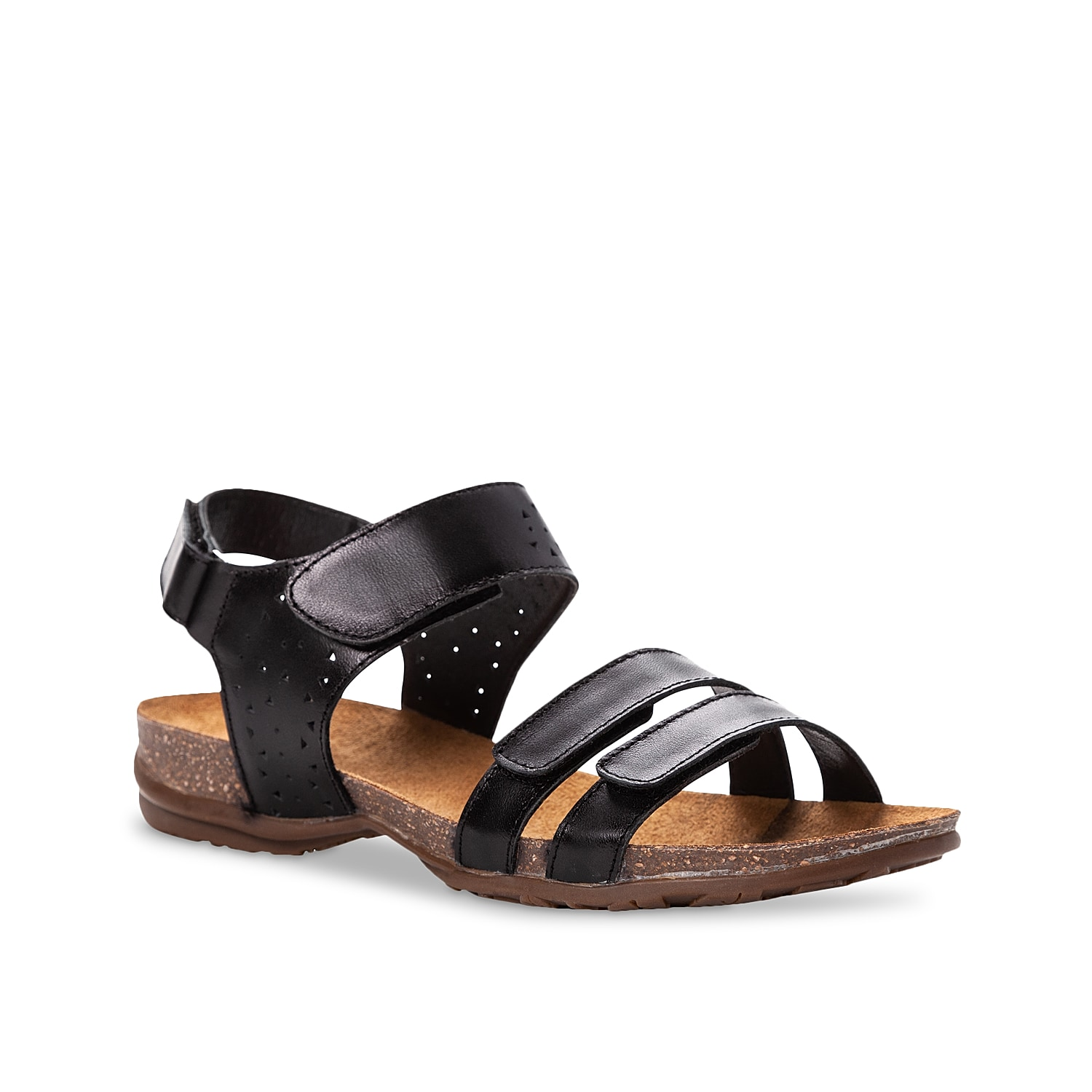 Get the support you need with the Farrah sandal from Propet. Four hook and loop straps create a perfect fit while the contoured footbed keeps every step feeling comfortable.
