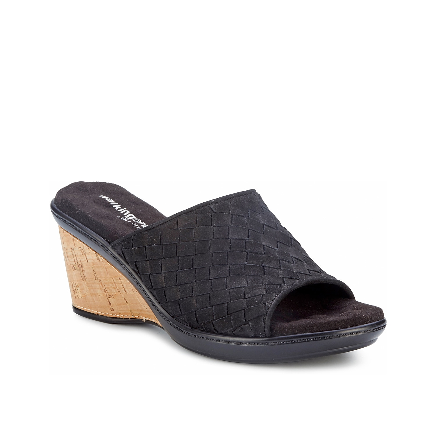 Slide into the Lana wedge sandal from Walking Cradles for stylish comfort. A Tiny Pillows footbed cushions every step while the woven leather upper and cork wedge keep this pair on trend.